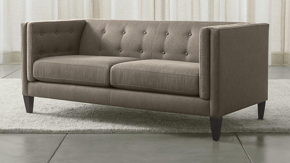Aidan Grey Modern Tufted Apartment Sofa Reviews Crate And Barrel