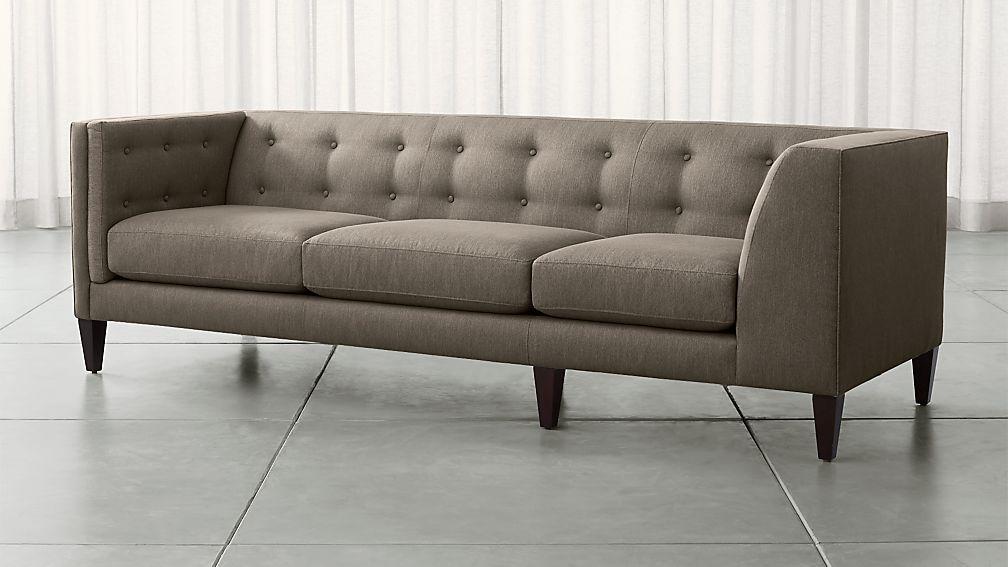 Aiden Grey Corner Sofa + Reviews   Crate and Barrel