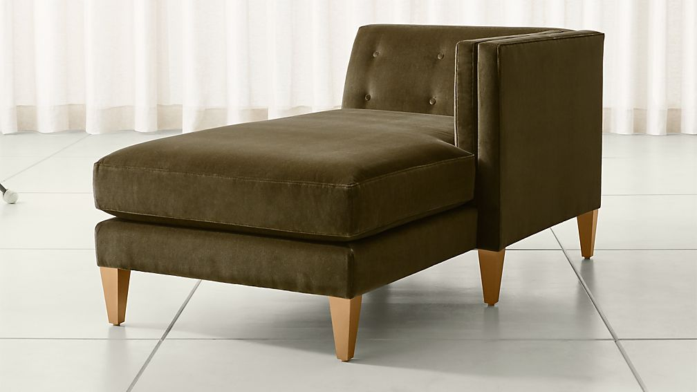 Aidan Velvet Right Arm Chaise ... : right arm chaise - Sectionals, Sofas & Couches