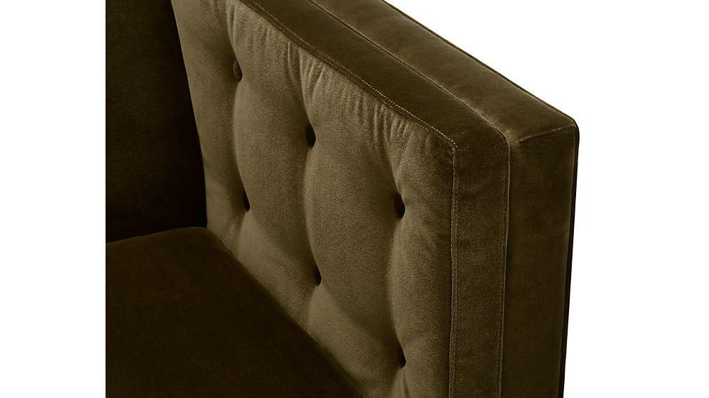 Aidan Velvet 2-Piece Left Arm Corner Sectional Sofa