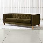 Aidan Velvet Tufted Sofa