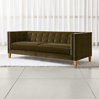 Amazing Aidan Velvet Tufted Sofa
