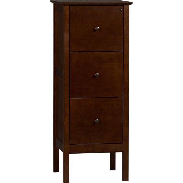 Ainsworth Cognac Triple Filing Cabinet
