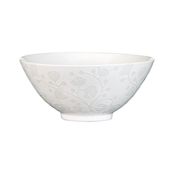 """Akemi White 7.5"""" Noodle Bowl"""