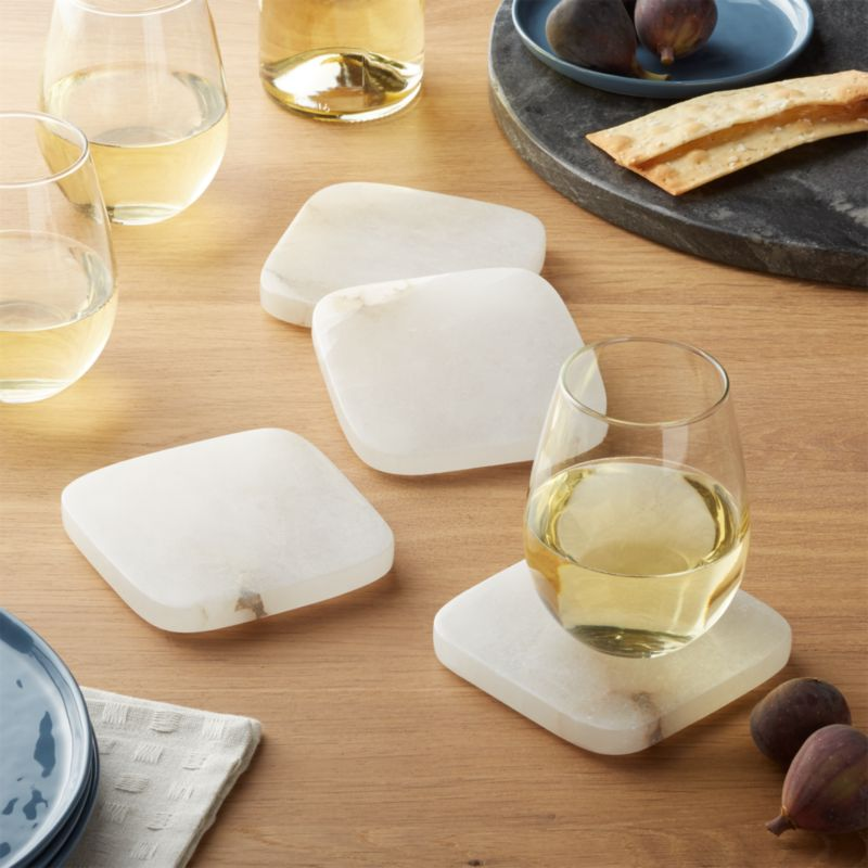 Alabaster Coasters, Set Of 4 by Crate&Barrel