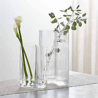 Crate and Barrel & Decorative Vases: Glass and Ceramic   Crate and Barrel
