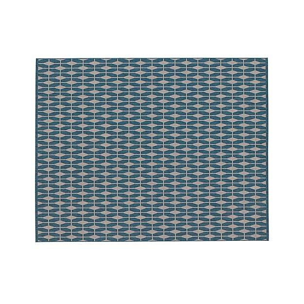 Aldo Blue Indoor-Outdoor 8'x10' Rug