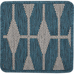 Aldo II Blue Indoor-Outdoor Rug | Crate and Barrel