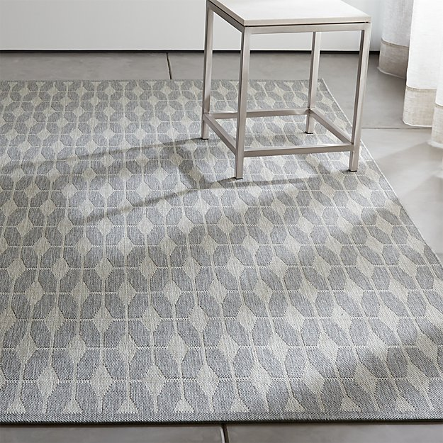 Aldo Grey Outdoor Rug | Crate and Barrel