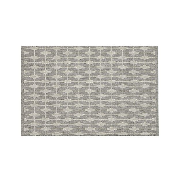 Aldo Dove Grey Indoor-Outdoor 4'x6' Rug