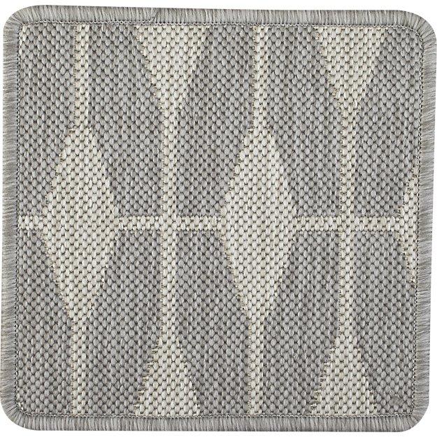 """Aldo Dove Grey Indoor-Outdoor 12"""" sq. Rug Swatch"""