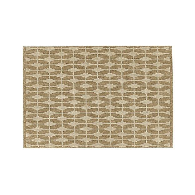Aldo ii flax beige indoor outdoor rug 4 39 x6 39 crate and barrel for Cb2 indoor outdoor rug