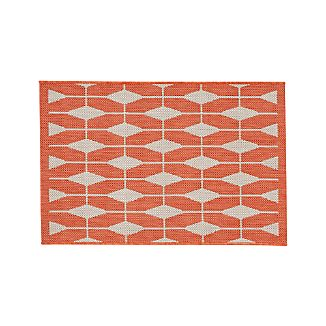 Aldo Mandarin Orange Indoor-Outdoor Rug 2'x3'
