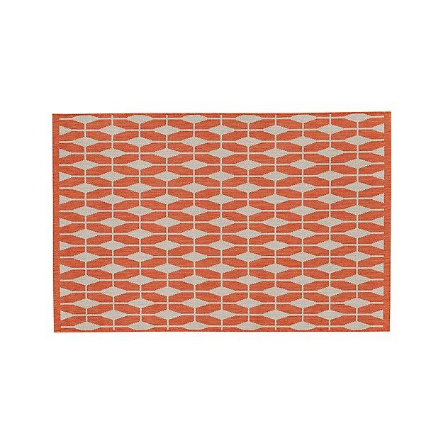 Aldo Mandarin Orange Indoor-Outdoor Rug 4'x6'