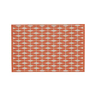 Aldo Mandarin Orange Indoor-Outdoor Rug 4'x6'