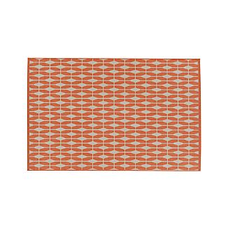Aldo Mandarin Orange Indoor-Outdoor Rug 5'x8'