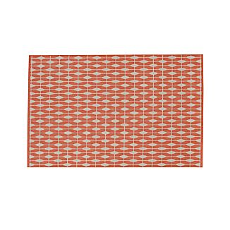 Aldo Mandarin Orange Indoor-Outdoor Rug 6'x9'
