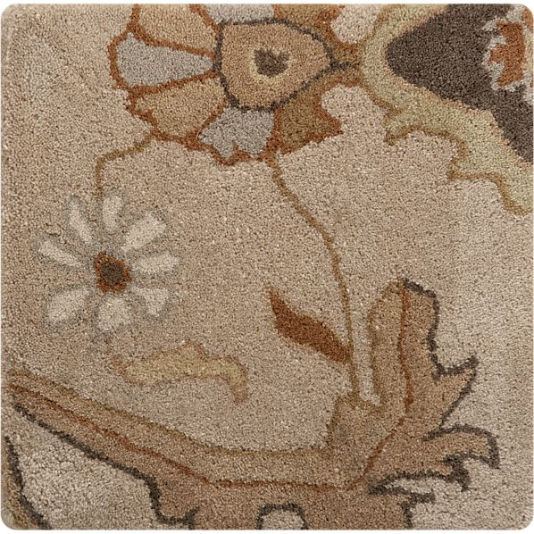 "Aldo Natural 12"" sq. Rug Swatch"