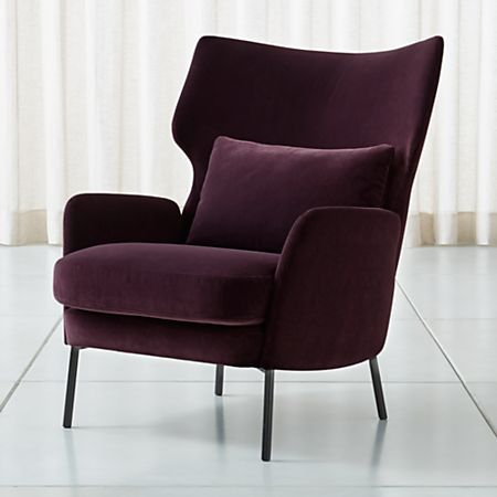 Stupendous Alex Bordeaux Velvet Accent Chair Crate And Barrel Gmtry Best Dining Table And Chair Ideas Images Gmtryco