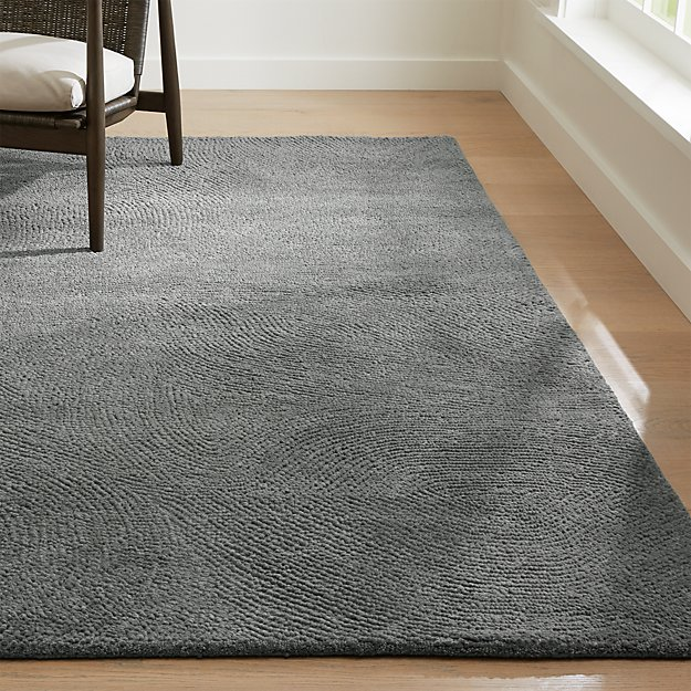 Alfredo Grey Wool Rug Crate And Barrel