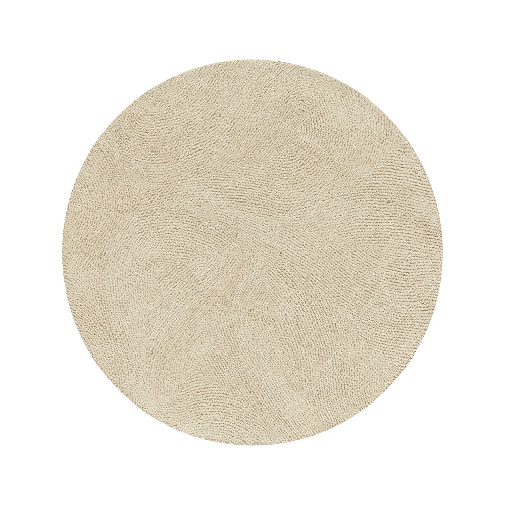 Alfredo Ivory 6' Round Rug - Crate and Barrel