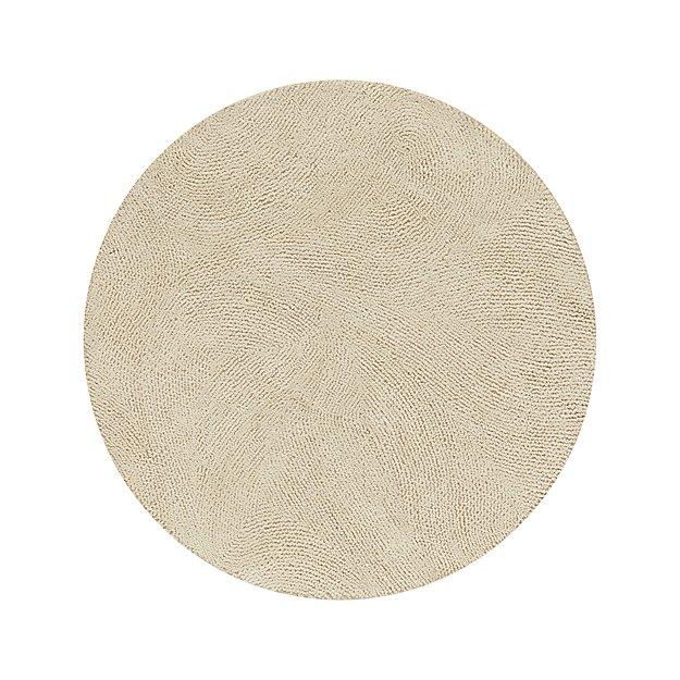 Alfredo Ivory 6 Round Rug Crate And Barrel