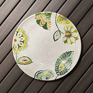 Alfresco Melamine Botanical Flower Dinner Plate & Clearance Dinnerware Tablecloths u0026 Dining | Crate and Barrel