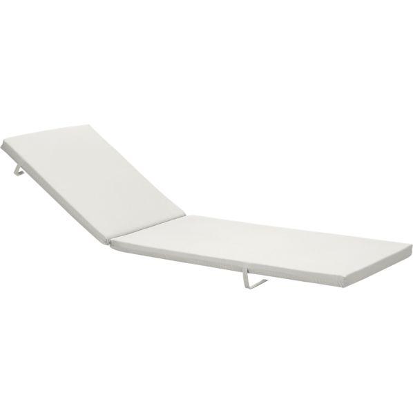 Alfresco Sunbrella ® White Sand Chaise Lounge Cushion