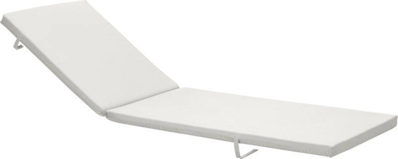 Add extra comfort to Alfresco chaise lounge with fade-, water- and mildew-resistant Sunbrella® acrylic cushions in warm white sand.<br /><br /><NEWTAG/><ul><li>Fade- and mildew-resistant Sunbrella acrylic</li><li>Polyurethane foam cushion fill</li><li>Fabric tab fasteners</li><li>Spot clean</li><li>Made in China</li></ul>