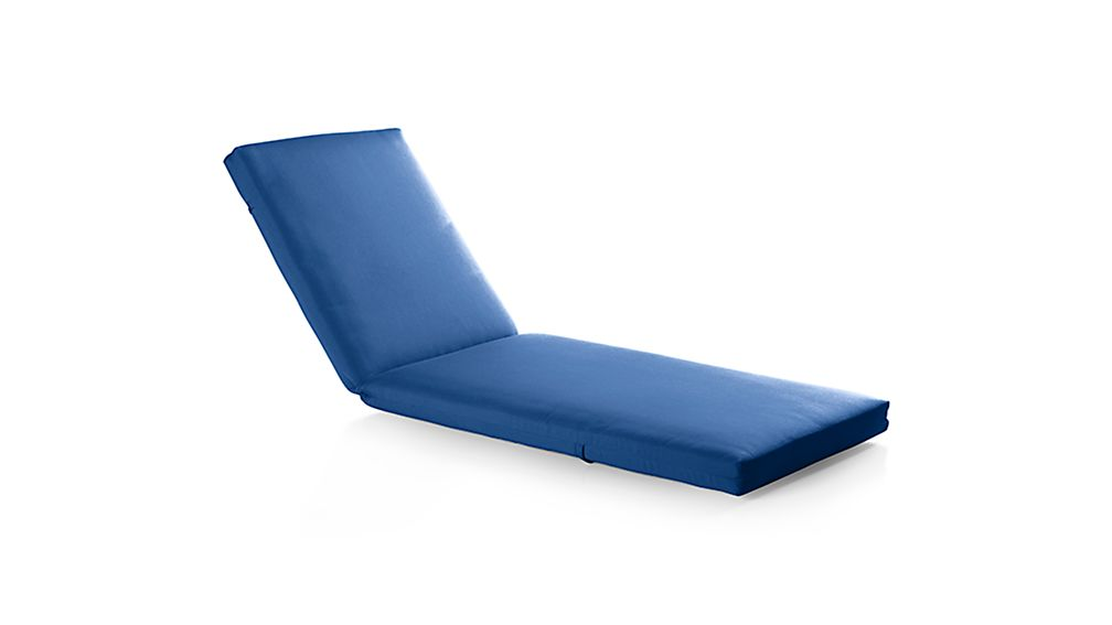 Alfresco sunbrella 3 chaise lounge cushion crate and for Best chaise lounge cushions