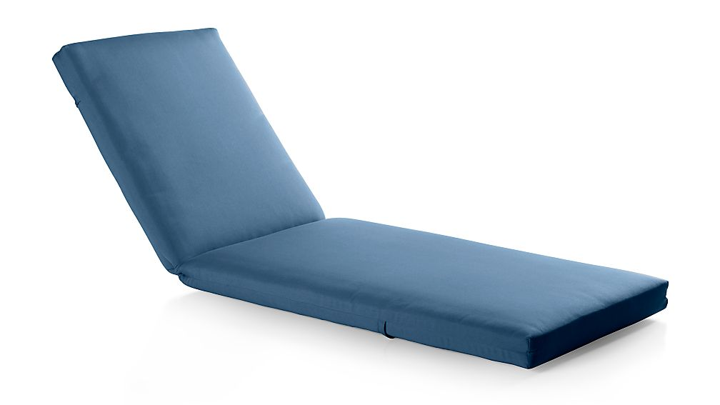 Alfresco Sapphire Sunbrella ® Chaise Lounge Cushion - Image 1 of 2