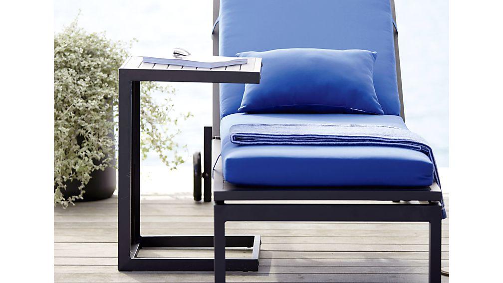 "Alfresco Grey Chaise Lounge with Sunbrella ® 3"" Cushion"