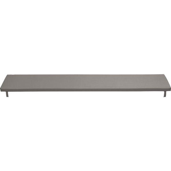 Alfresco Sunbrella ® Graphite Dining Bench Cushion