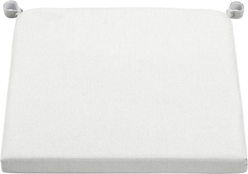 Optional chair-barstool cushion is fade- and mildew-resistant Sunbrella acrylic in neutral eggshell.<br /><ul><li>Fade- and mildew-resistant Sunbrella acrylic</li><li>Polyurethane foam cushion fill</li><li>Secured with fabric tab fasteners</li><li>Spot clean</li><li>Made in China</li></ul><NEWTAG/>
