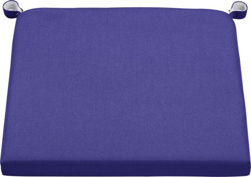 Optional marine blue cushion is fade- and mildew-resistant Sunbrella acrylic.<br /><br /><NEWTAG/><ul><li>Cushion is fade- and mildew-resistant Sunbrella acrylic</li><li>Polyfoam fill</li><li>Fabric tab fasteners; spot clean</li><li>Made in China</li></ul>