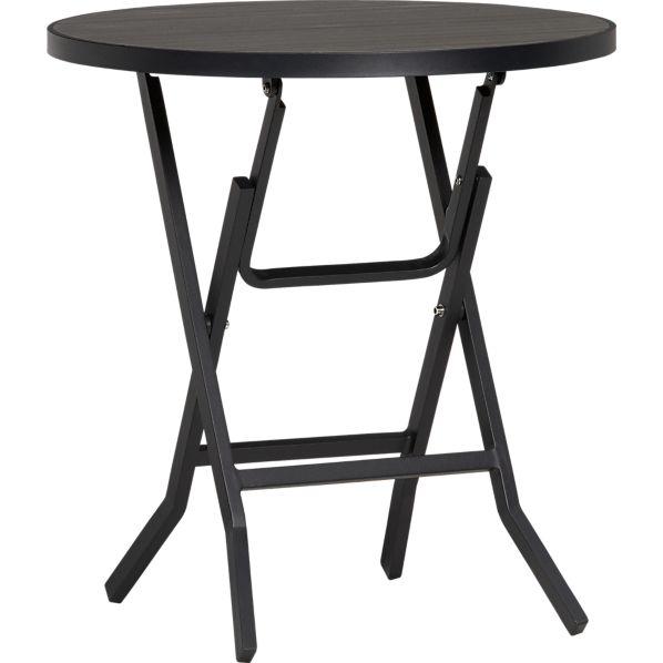 Alfresco Grey Folding Bistro Table