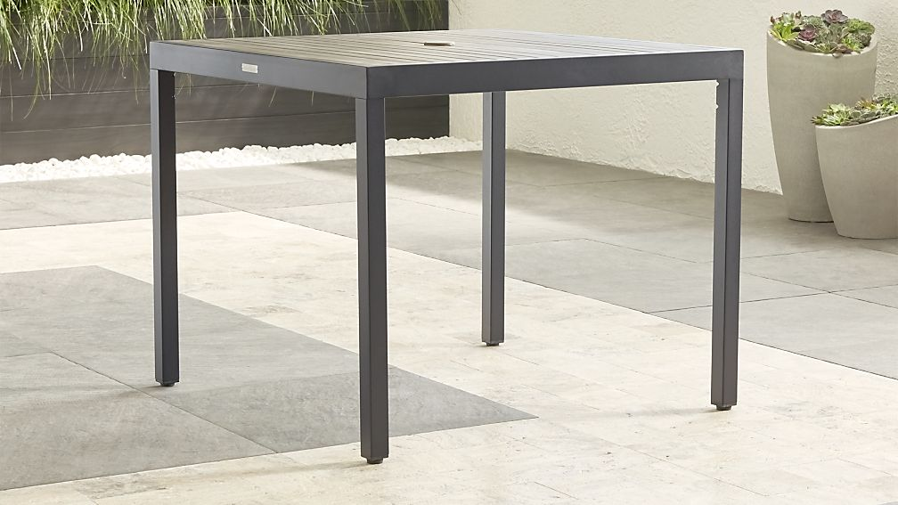 Alfresco Ii Grey Cafe Dining Table Reviews Crate And Barrel