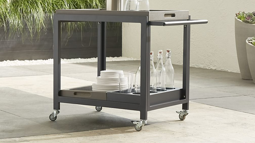 Alfresco II Grey Cart with Casters - Image 1 of 9