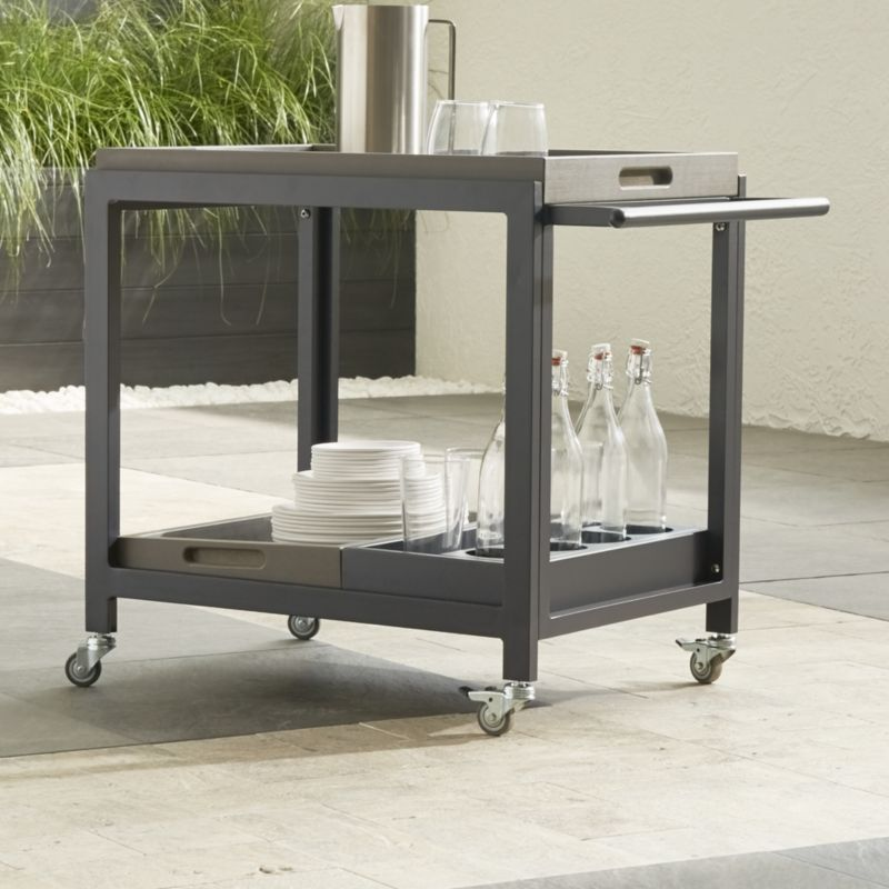 Alfresco II Grey Cart With Casters