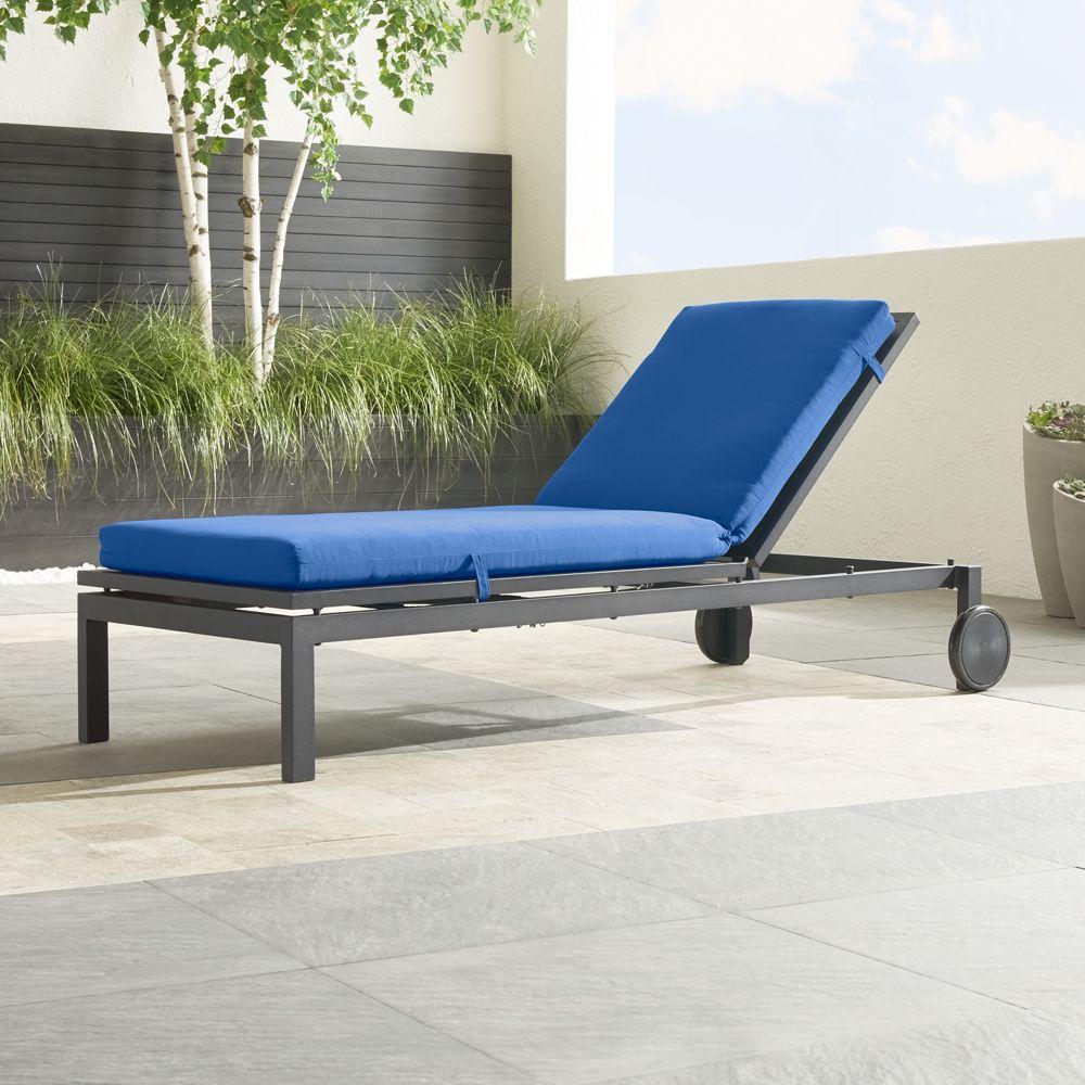 Alfresco Grey Chaise Lounge with Sunbrella ® 3
