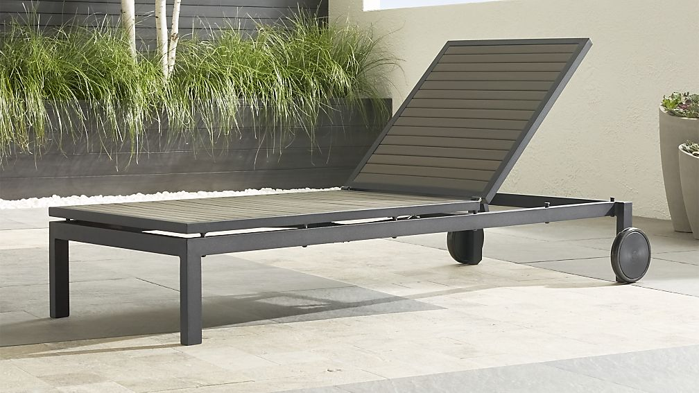 Alfresco Grey Chaise Lounge