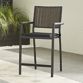 "Alfresco II Grey 24"" Counter Stool with Charcoal Sunbrella ® Cushion"