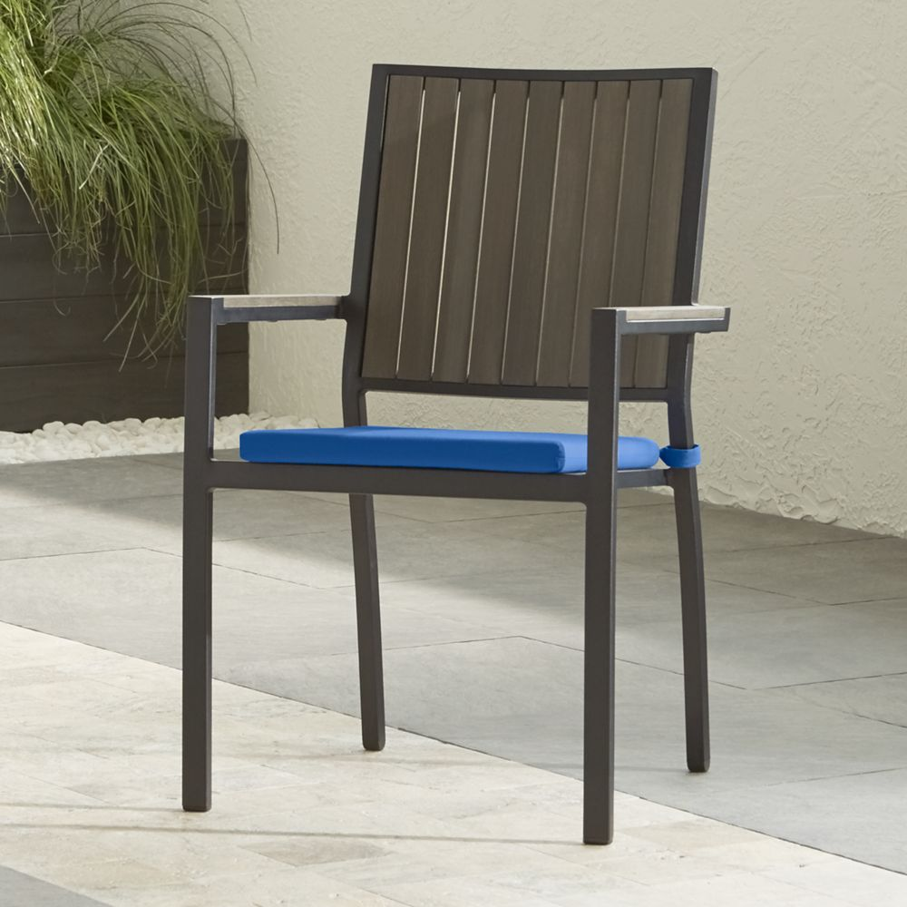 Alfresco Grey Dining Chair with Sunbrella ® Cushion - Crate and Barrel