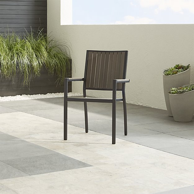 Alfresco grey dining chair crate and barrel