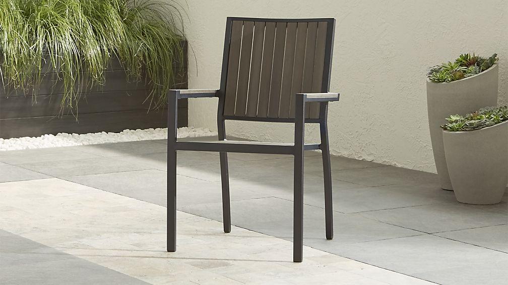 Alfresco II Grey Dining Arm Chair - Image 1 of 4