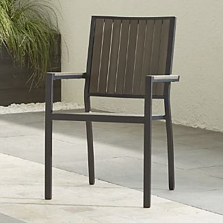 Outdoor Stacking Chairs. Alfresco Grey Dining Chair