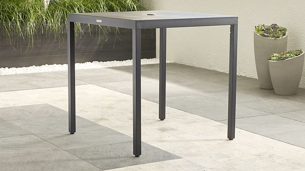 Alfresco Grey High Dining Table Crate and Barrel