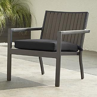 Alfresco II Grey Lounge Chair with Charcoal Sunbrella ® Cushion