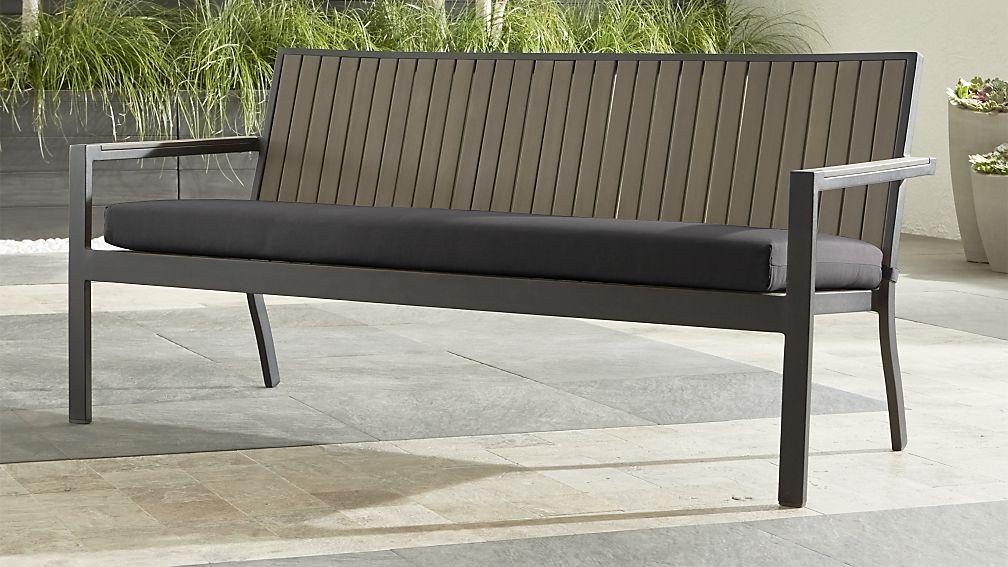 Alfresco II Grey Sofa with Charcoal Sunbrella ® Cushion - Image 1 of 8
