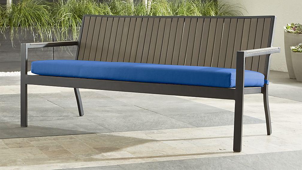 "Alfresco Grey Sofa with Sunbrella ® 3"" Cushion"